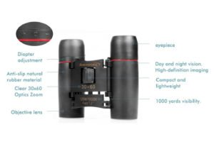 Aurosports 30x60 Folding Bionocular Telescope
