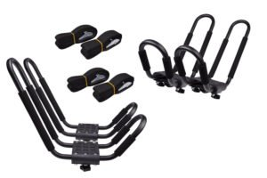 TMS 2 Pairs J-Bar Rack HD Kayak Carrier