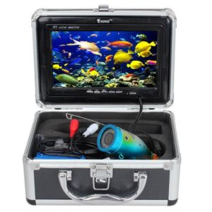 "7"" Color LCD 600tvl Waterproof 15m Cable 4000mah Rechargeable Battery Fish Finder Underwater Fishing Video Camera with Carry Case-"