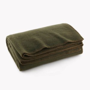 Olive Drab Green Warm Wool Blanket