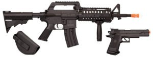 Crosman Elite Front Line Force Airsoft Rifle and Pistol Kit
