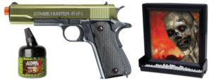 Zombie Hunter Target Pack with Airsoft Pistol