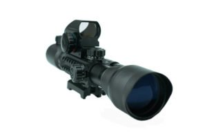 AOTOP Tactical Rifle Scope with Red Laser Dot Sight