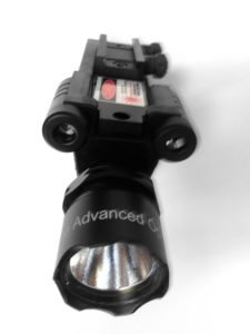 Ade Advanced Optics 300 lm Flashlight with Green Laser Combo Sight