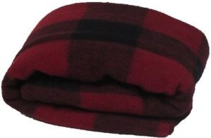 Super Soft and Warm Wool Red/Black Plaid Blanket